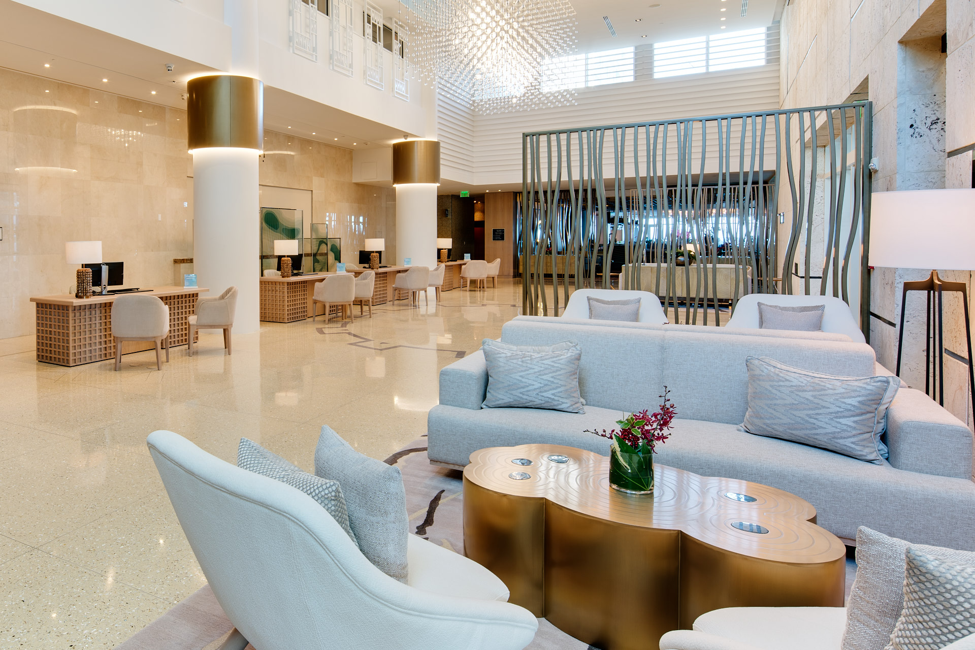 Hotel lobby of the Carillon Miami
