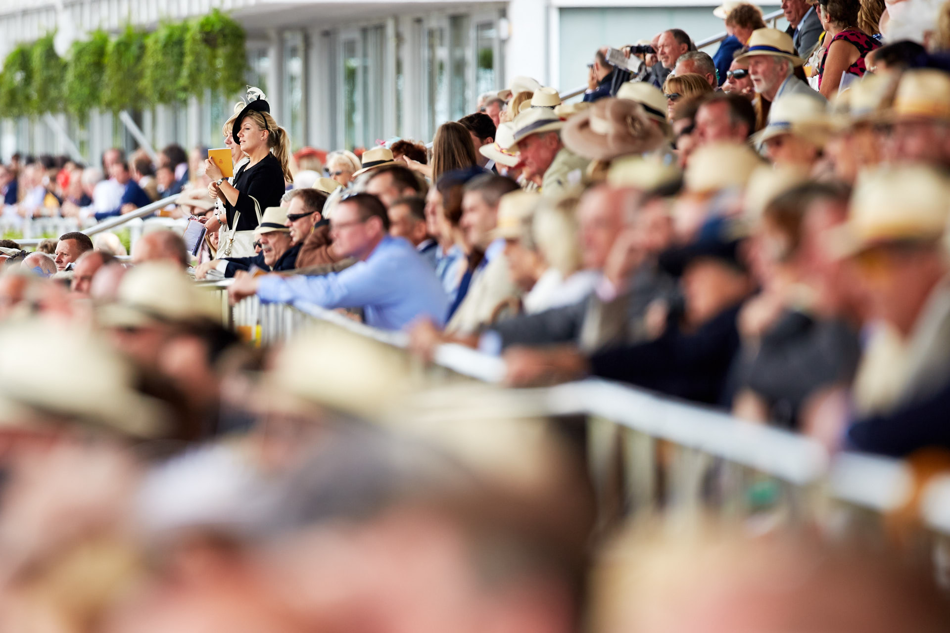 Guests at the Qatar Goodwood Festival