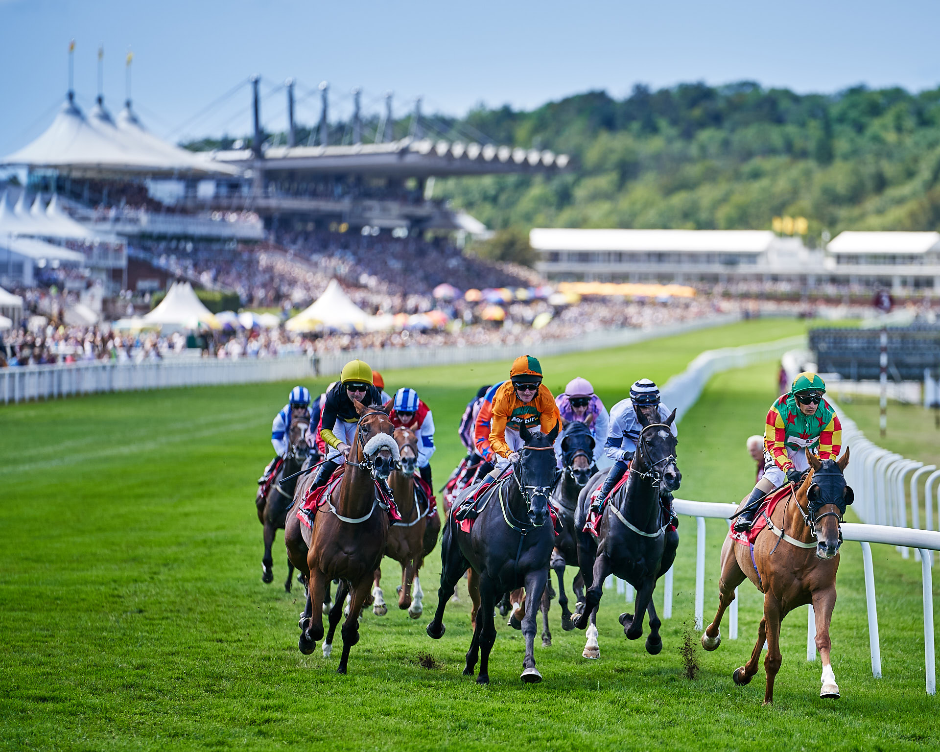 View of the only race to start backwards at Qatar Goodwood Festival 2018