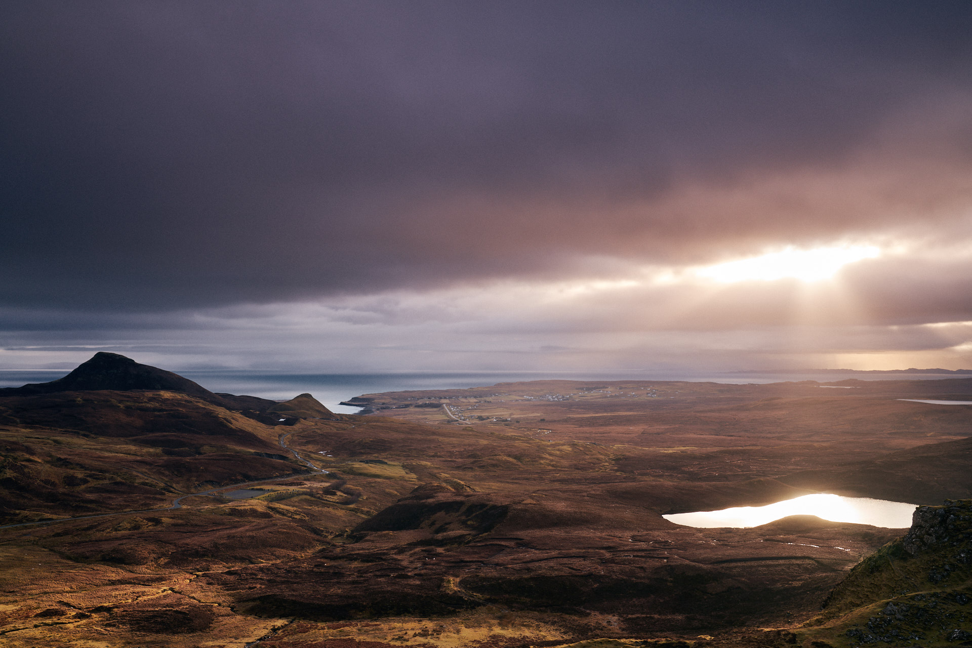Looking South from the top of the Quiraing - Isle of Skye